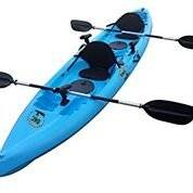 BKC UH-TK181 12.5 foot Sit On Top Tandem Fishing Kayak Paddles and Seats included